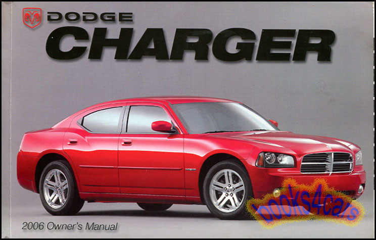 2006 charger owners manual dodge handbook guide book new 06 r t hemi rh ebay com owner's manual dodge charger 2006 Manual Transmission