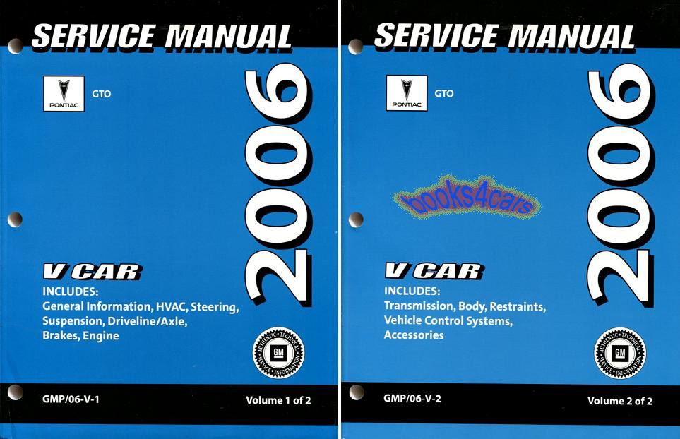 shop manual 2006 pontiac gto service repair book factory workshop rh ebay com 2006 pontiac gto repair manual 2006 pontiac gto service manual hard copy