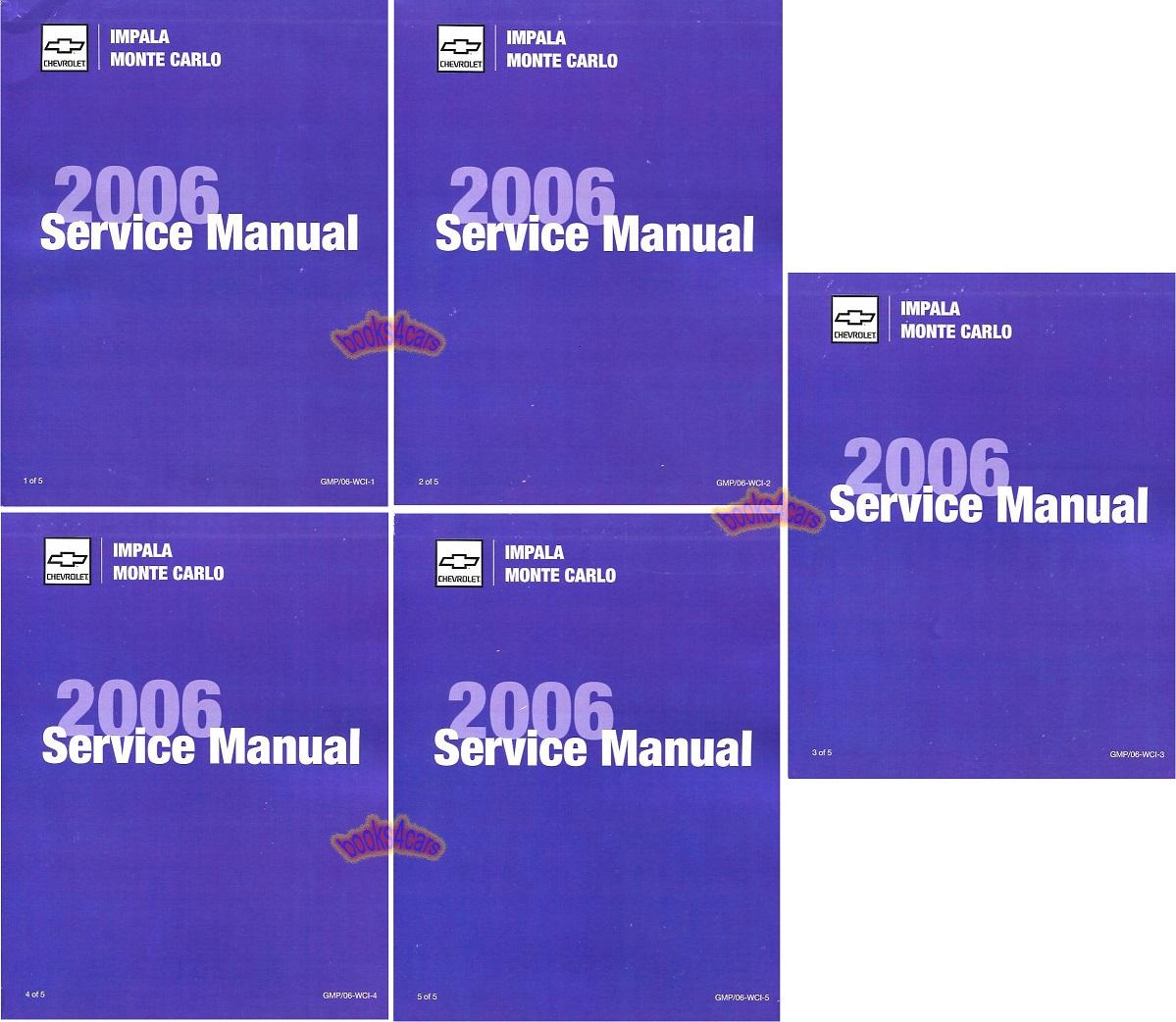 Shop Manual Impala 2006 Monte Carlo Chevrolet Service