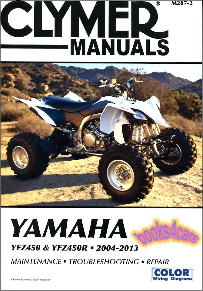 yamaha yfz450r shop manual yfz450 service repair book. Black Bedroom Furniture Sets. Home Design Ideas