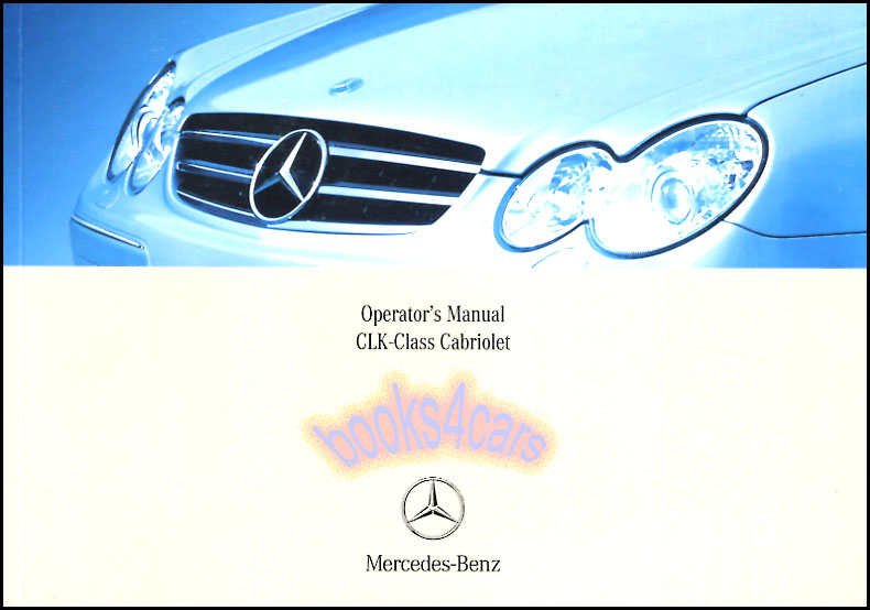 2007 mercedes clk 350 clk 550 owners manual: mercedes: amazon. Com.