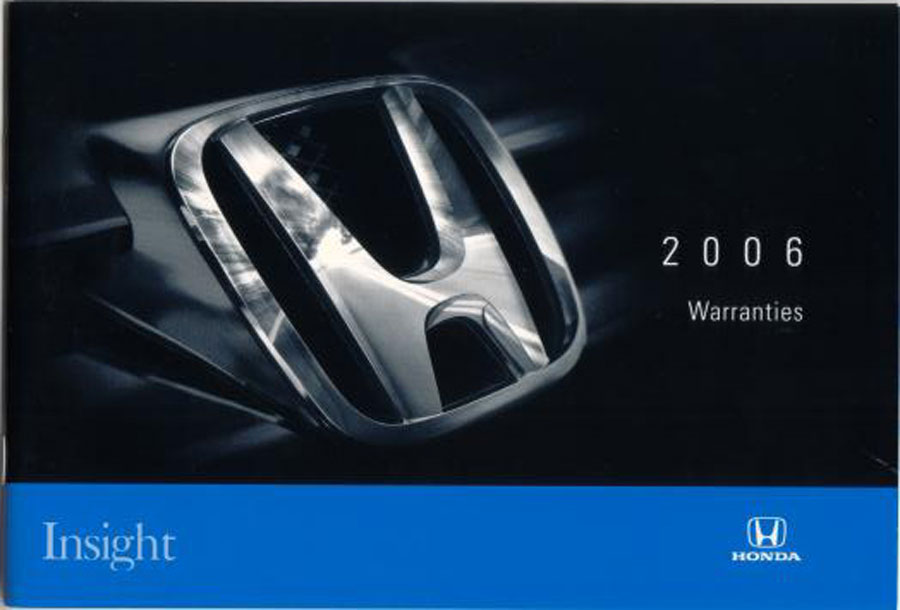 2006 honda insight owners manual warranty booklet hybrid 06 ebay. Black Bedroom Furniture Sets. Home Design Ideas