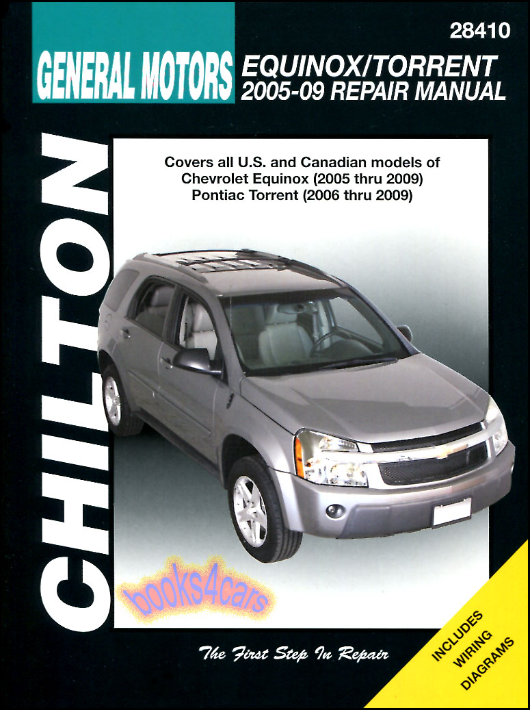 05-17 Equinox & Torrent & Terrain Shop Service Repair Manual for Chevrolet  & Pontiac & GMC by Chilton (B07_28410 ) span: 12 years - Model Length: 38  ...