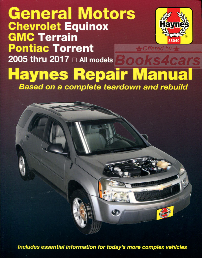05-12 Equinox & Torrent Shop Service Repair Manual for Chevrolet & Pontiac  by Haynes (B07_38040) ...