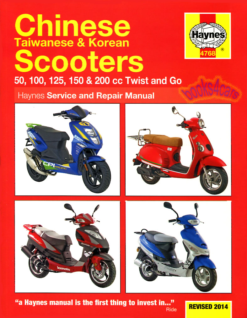 scooter shop manual service repair book 50 100 125 150 200 haynes rh ebay com Chilton Repair Manuals Ford Auto Repair Manuals PDF