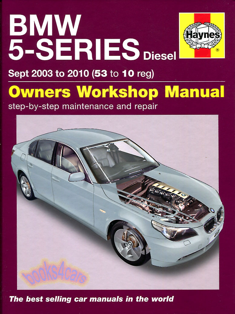 REAL HARDCOVER BOOK Shop Service Repair Manual for 2004-2010 BMW 5-Series.  Does not cover gas engine or 4wd parts but covers the rest of the car to  the ...