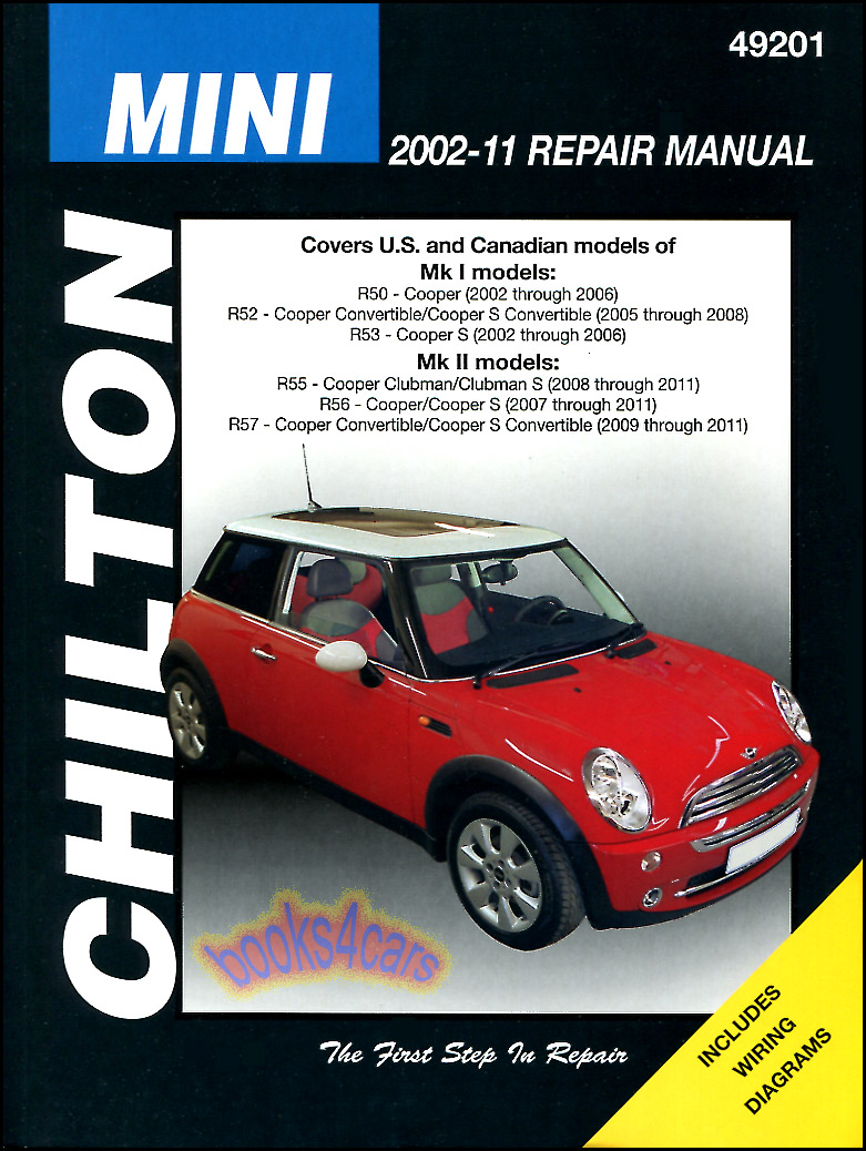 shop manual mini cooper service repair s book chilton. Black Bedroom Furniture Sets. Home Design Ideas