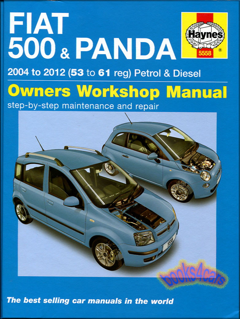 REAL BOOK Shop Service Repair Manual for 04-12 Fiat 500 Models by Haynes in  New, never-opened condition
