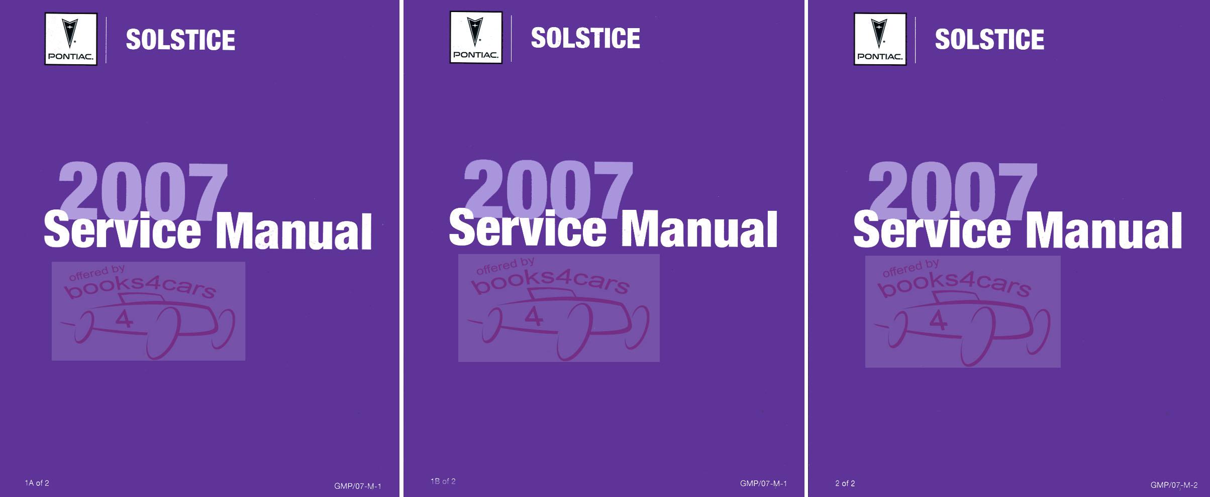 shop service solstice repair manual 2007 pontiac set factory gm rh ebay com Service ManualsOnline Repair Manuals