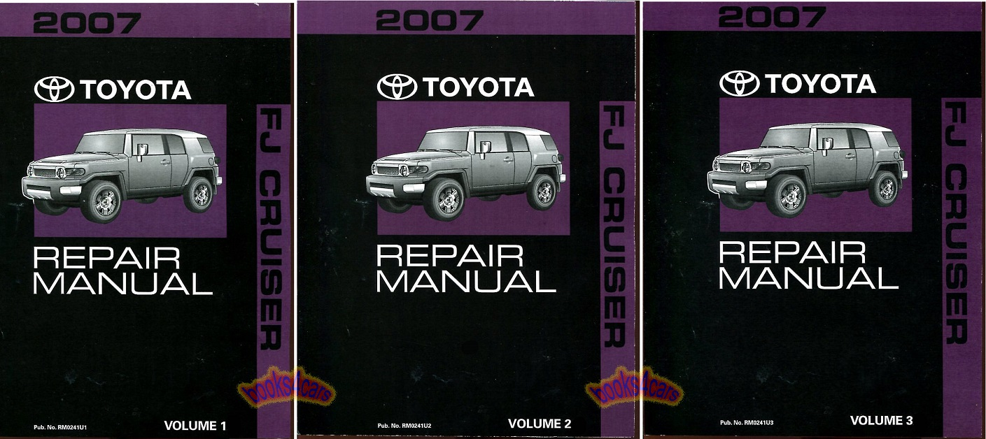 REAL BOOK SET many thousands of pages Shop Service Repair Manual Set by  Toyota for 2007 FJ Cruiser. Books are in New, never-opened condition
