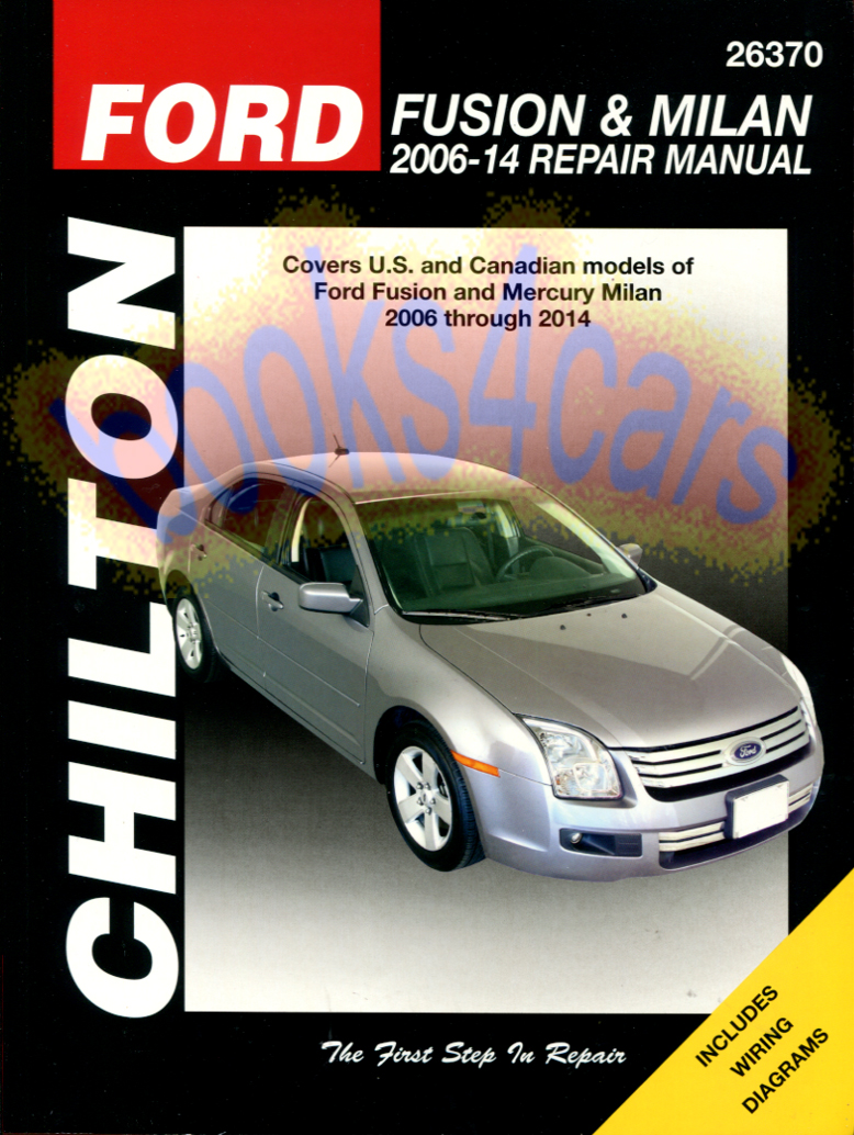 REAL BOOK over 300 pages 2006-2014 Ford Fusion & Mercury Milan bumper to  bumper Shop Service Repair Manual by Chilton in New, never-opened condition