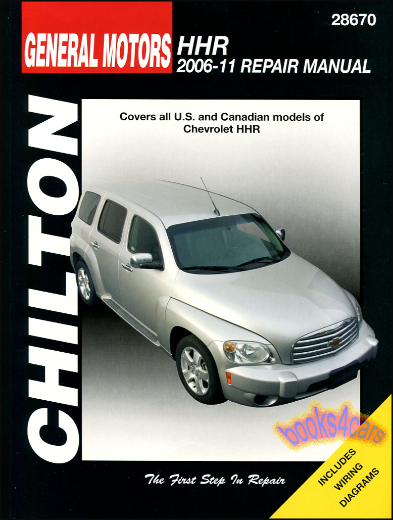 Chevrolet hhr shop manual service repair book chilton haynes real book bumper to bumper shop service repair manual for all 2006 2011 chevrolet hhr by chilton in new never opened condition publicscrutiny Images
