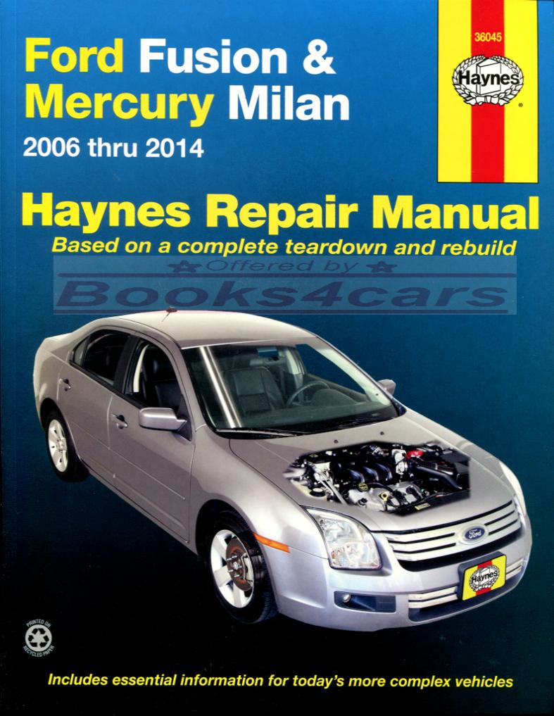 Ford Fusion Manuals At Books4cars Com