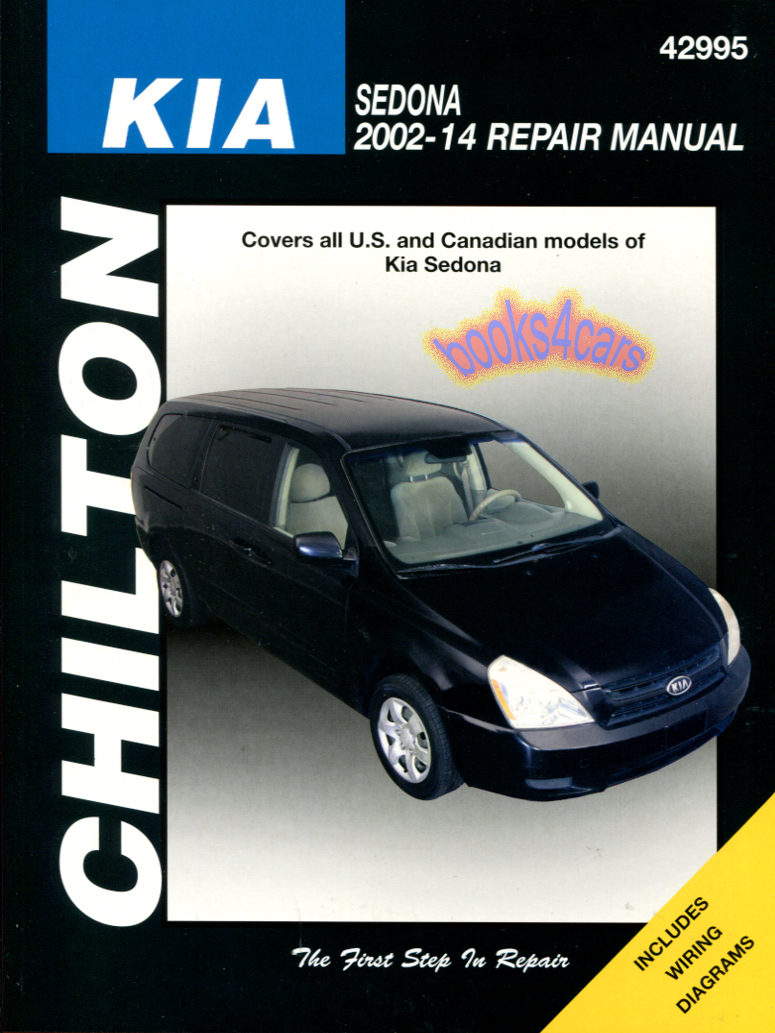 REAL BOOK bumper-to-bumper Shop Service Repair Manual for all 2002-2014 Kia  Sedona. Book is in New, never-opened condition