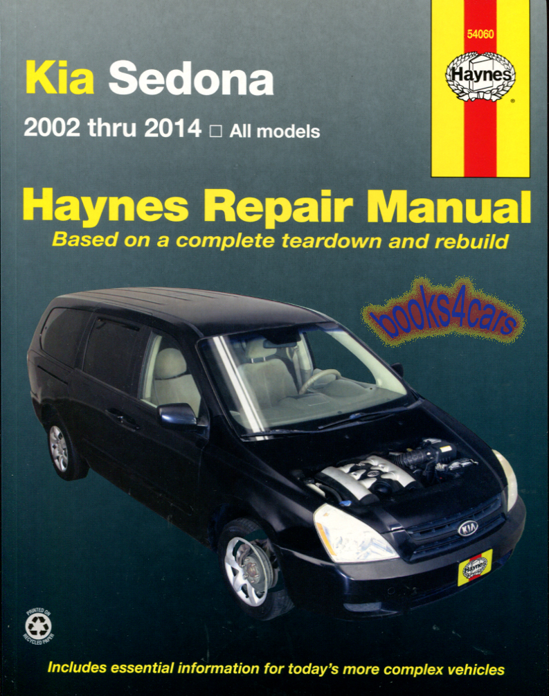 REAL BOOK bumper-to-bumper Shop Service Repair Manual for all 2002-2014 Kia  Sedona. Book is in New, never-opened condition. We have over 269 other  different ...