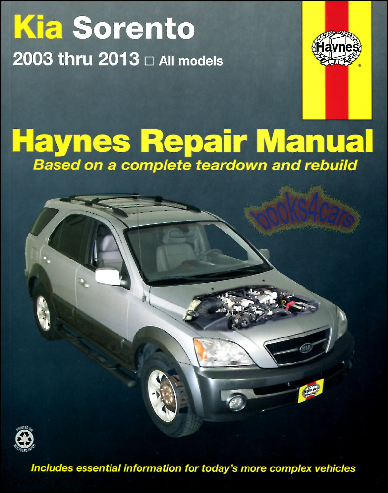 REAL BOOK bumper to bumper Shop Service Repair Manual for all 2003-2013 Kia  Sorento in New, never-opened condition.
