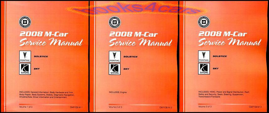 shop service repair manuals books pontiac solstice saturn sky rh ebay com Service ManualsOnline Service ManualsOnline