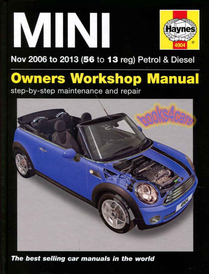 shop manual mini cooper service repair book haynes chilton. Black Bedroom Furniture Sets. Home Design Ideas