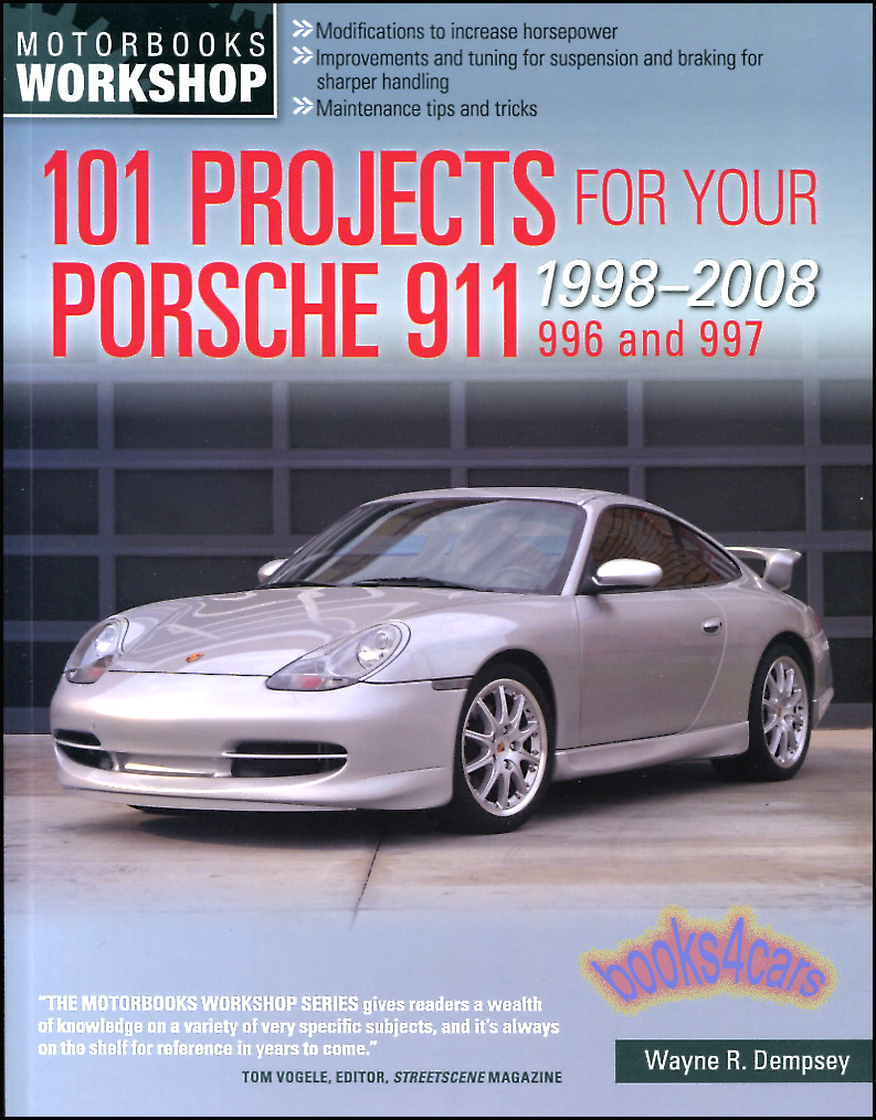 REAL BOOK 312 pages full of 101 work projects that can be done on any  1998-2008 Porsche 911 from simple to complicated from maintenance to  modification from ...