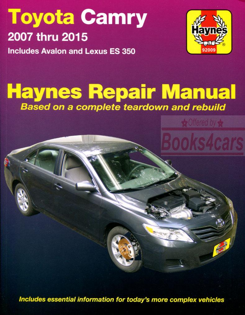 shop manual service repair haynes toyota lexus book es350 camry avalon chilto. Black Bedroom Furniture Sets. Home Design Ideas