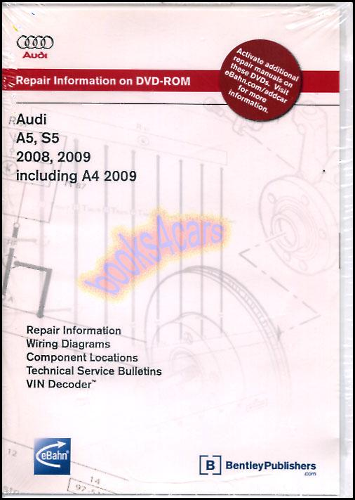 audi shop manual a5 s5 a4 service repair book bentley 2008. Black Bedroom Furniture Sets. Home Design Ideas