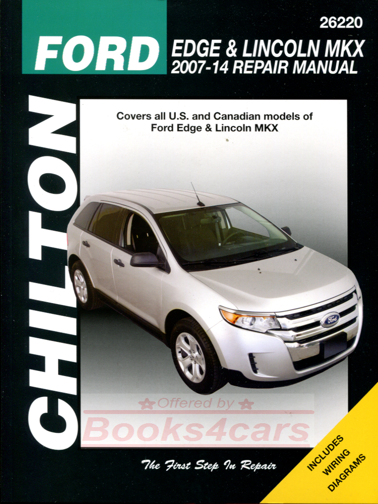 REAL BOOK Bumper to Bumper Repair manual for all 2007-2014 Ford Edge &  Lincoln MKX by Chilton in New, never-opened condition