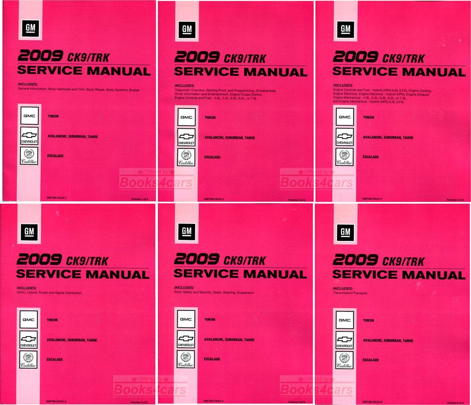 2009 Tahoe Avalanche Yukon Escalade ESV EXT & Suburban Shop Service Repair  Manual by Chevrolet Cadillac & GMC Truck (B09_GMT09CKUV) ...