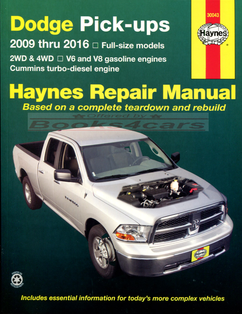 dodge ram truck shop manual service repair book haynes. Black Bedroom Furniture Sets. Home Design Ideas