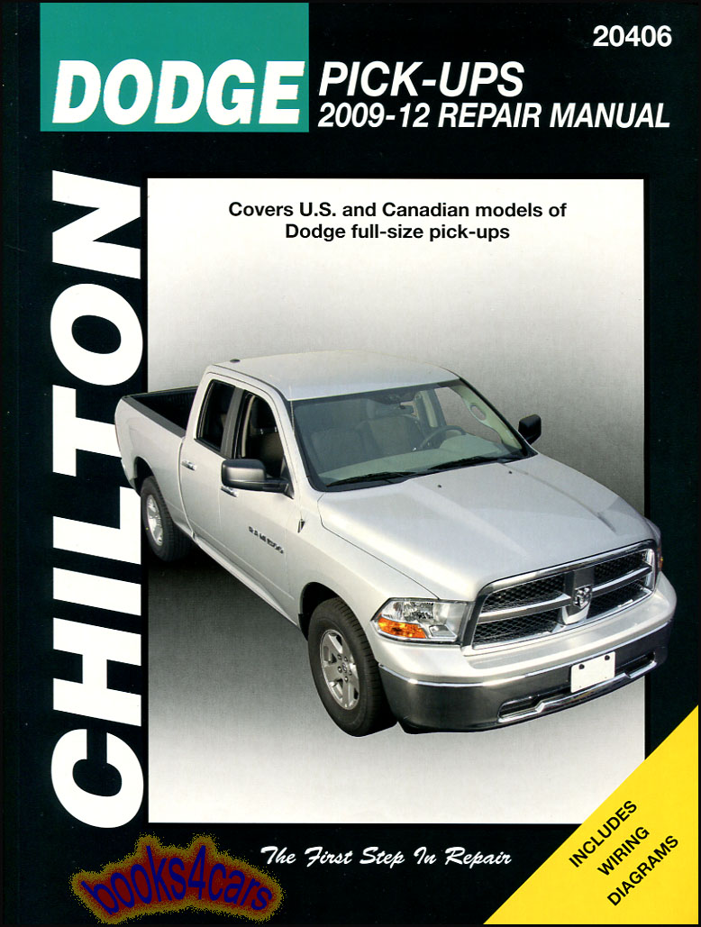 REAL BOOK Bumper to Bumper Shop Service Repair Manual for all 2009-2012  Dodge Ram Pick-up Trucks V8 V6 & Diesel by Chilton in New, never-opened  condition