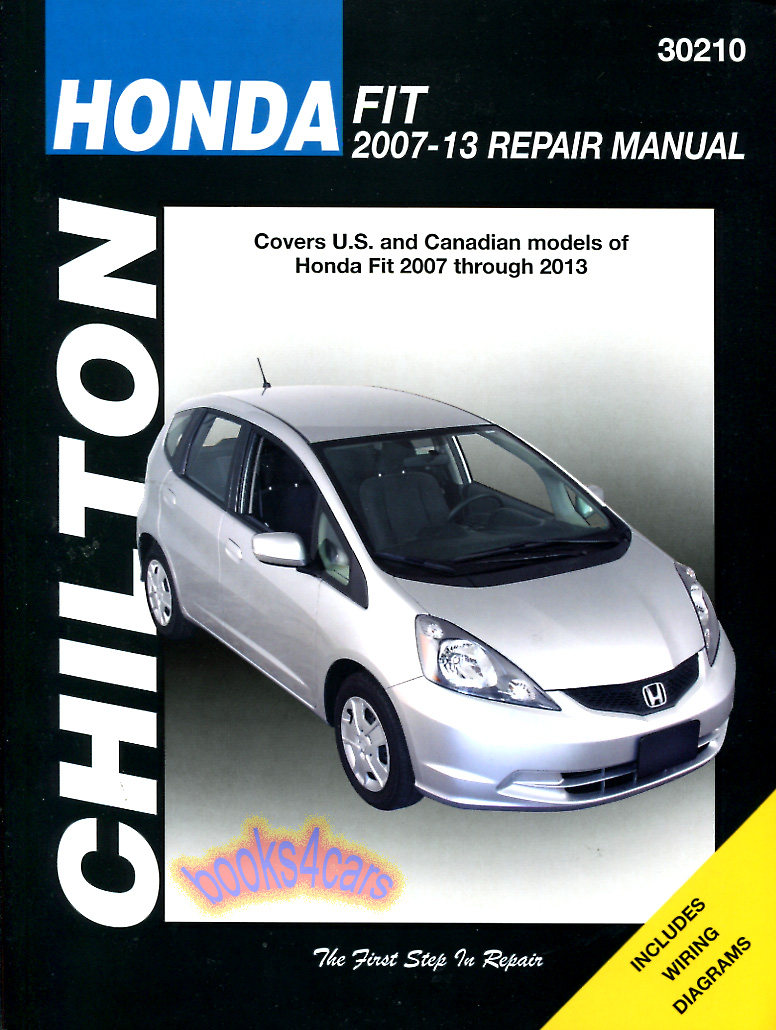 REAL BOOK bumper-to-bumper Shop Service Repair Manual for all 2007-2013 Honda  Fit. Book is in New, never-opened condition