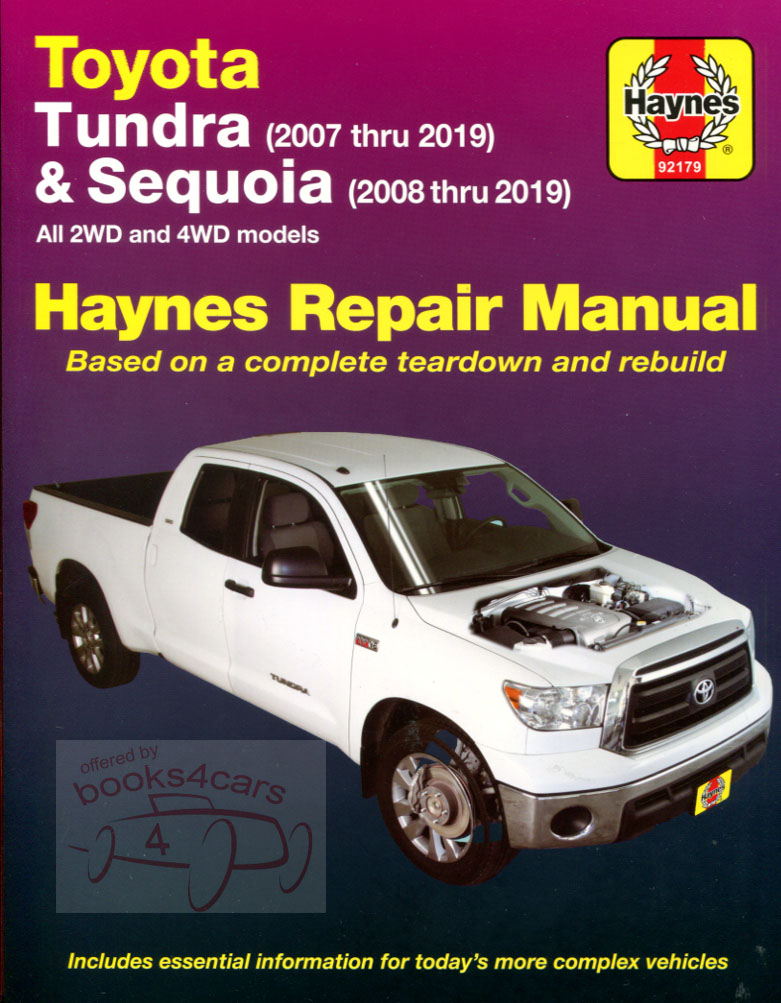 2007-2014 Toyota Tundra 2008-2014 Sequoia shop service repair manual 352  pages by Haynes (B10_92179) ...