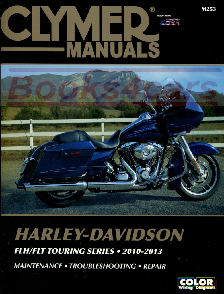 REAL BOOK over 500 pages Complete Shop Service Repair Manual for 2010-2013 Harley  Davidson FLH/FLT Touring Series. Book is in New, never-opened condition