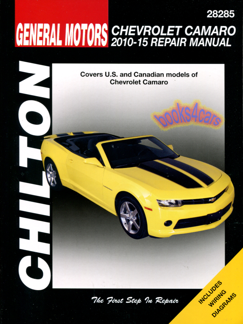 REAL BOOK Bumper-to-Bumper Shop Service Repair Manual for all 2010-2015  Camaro. Book is in New, never-opened condition
