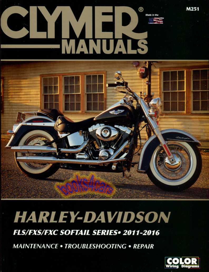 REAL BOOK over 500 pages Shop Service Manual for 2011-2016 Softail Harley  Davidson. Book is in New, never-opened condition