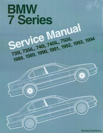 shop manual bmw service repair bentley e32 book 750il 740i. Black Bedroom Furniture Sets. Home Design Ideas